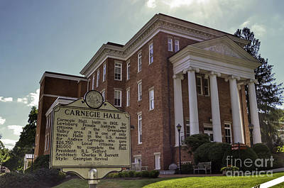 Photograph - Carnegie Hall Lewisburg West Virginia by Kerri Farley