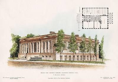 Library Painting - Carnegie Library Colorado Springs Colorado 1905 by T MacLaren
