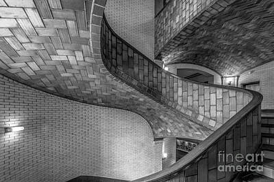 Carnegie Mellon University Baker Hall Stairway Art Print by University Icons