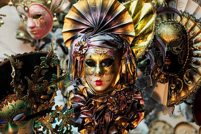 Photograph - Carnevale Masks In Venice by Paul Cowan