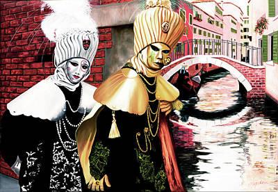 Carnevale Venecia - Prints From My Original Oil Painting Art Print