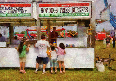 Hot Dogs Photograph - Carnival - Daddy I Want A Hot Dog by Mike Savad