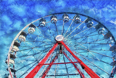 Carnival - Round And Round  Art Print by Mike Savad