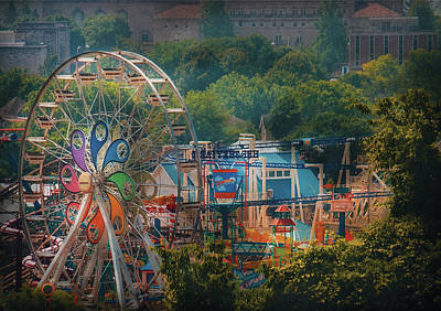 Carnival - The Ferris Wheel Art Print by Mike Savad
