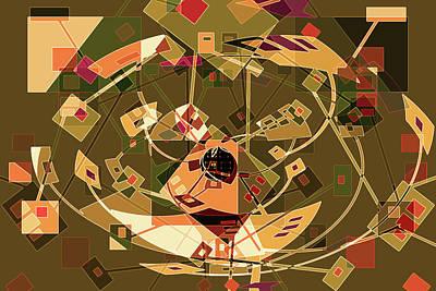 Abstract Movement Mixed Media - Carnival 3i by Lynda Lehmann