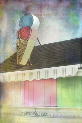 Photograph - Carnival Art - Vintage Ice Cream Shop by Joann Vitali