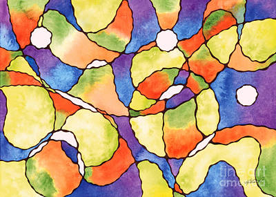 Painting - Carnival Balloons Watercolor by Kristen Fox