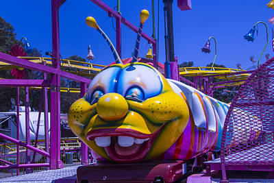 Carnival Caterpillar Ride Art Print by Garry Gay
