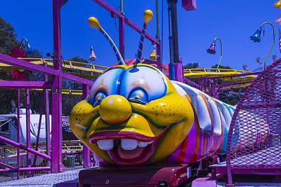 Roller Coaster Photograph - Carnival Caterpillar Ride by Garry Gay