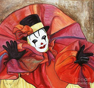 Klown Painting - Carnival Clown by Patty Vicknair