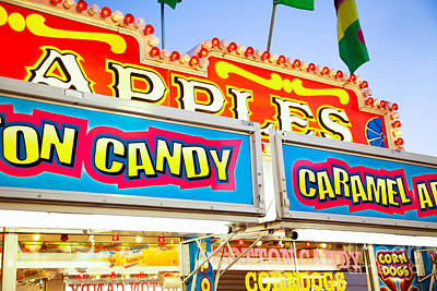 Cotton Candy Photograph - Carnival Concession Stand Signs by Paul Velgos