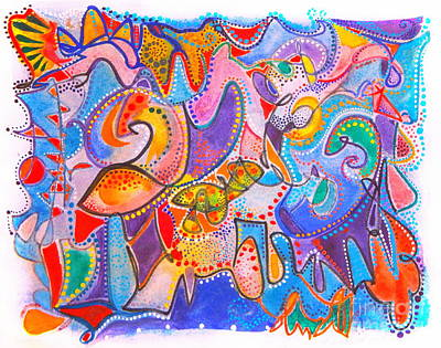 The Champagne Collection - Carnival by Priscilla Batzell Expressionist Art Studio Gallery