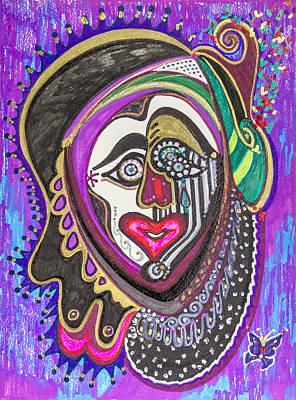 Carnival Face Art Print