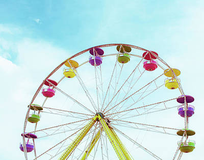 Carnival Ferris Wheel Bright Art Print