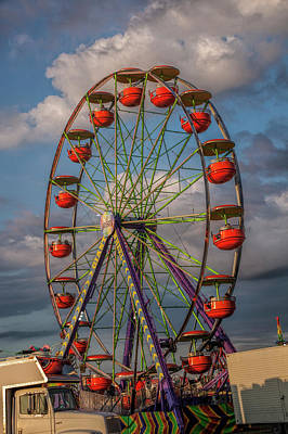 Photograph - Carnival Ferris Wheel by Randall Nyhof