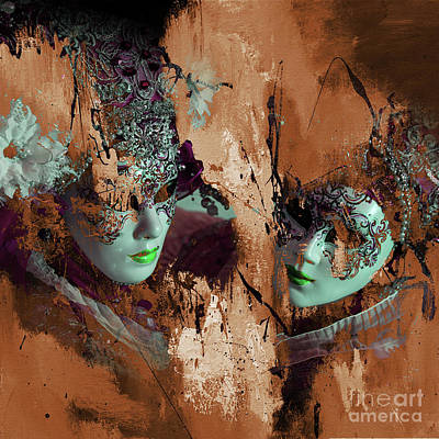Amusement Ride Painting - Carnival Mask by Gull G