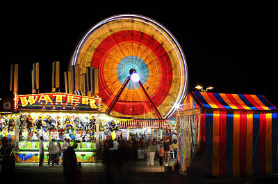 Photograph - Carnival Midway by Todd Klassy