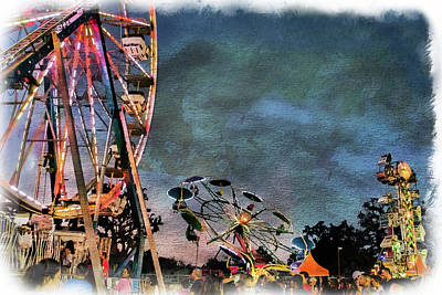 Photograph - Carnival Night Rides by Norma Warden