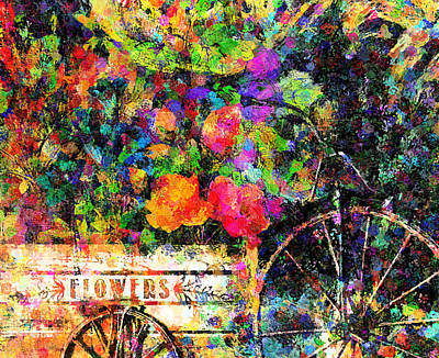 Mixed Media - Carnival Of Flowers Abstract Realism by Georgiana Romanovna