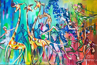 Painting - Carnival Of The Animals by Lisa Owen-Lynch