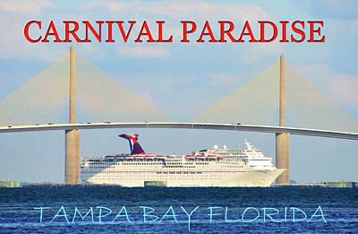 Photograph - Carnival Paradise Cruise Ship Pc by David Lee Thompson