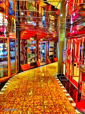 Digital Art - Carnival Pride Fun Shops by Stephen Younts