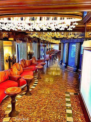 Digital Art - Carnival Pride Hallway by Stephen Younts