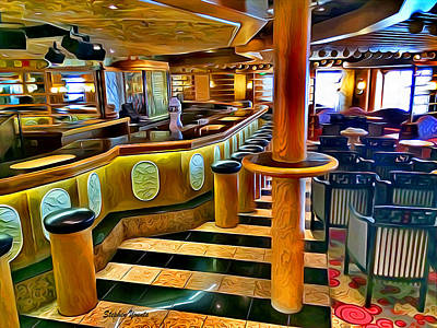 Digital Art - Carnival Pride Ivory Piano Bar by Stephen Younts
