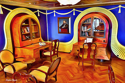 Digital Art - Carnival Pride Library by Stephen Younts