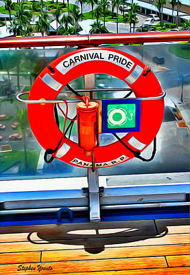 Digital Art - Carnival Pride Life Ring by Stephen Younts