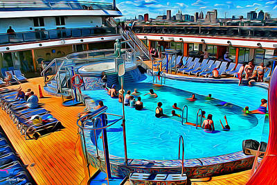 Digital Art - Carnival Pride Pool by Stephen Younts