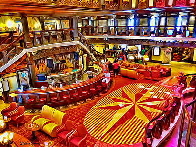 Digital Art - Carnival Pride Renaissance Atrium by Stephen Younts