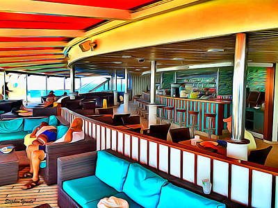 Digital Art - Carnival Pride Serenity Deck by Stephen Younts