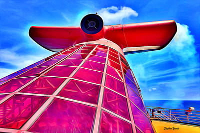 Digital Art - Carnival Pride Stack by Stephen Younts