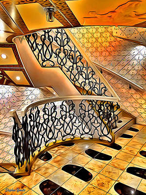 Digital Art - Carnival Pride Stairs by Stephen Younts
