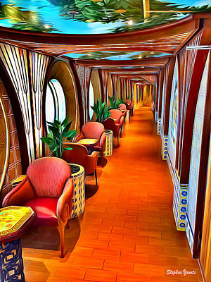 Digital Art - Carnival Pride Sunset Garden Promenade by Stephen Younts
