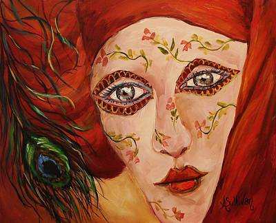 Mardi Gras Painting - Carnival Princess by Angela Sullivan