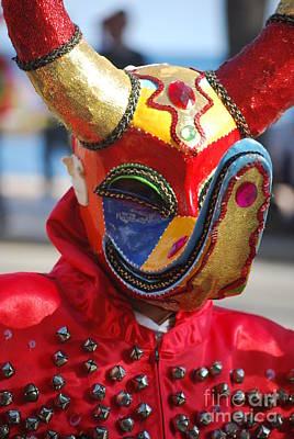 Photograph - Carnival Red Duck Portrait by Heather Kirk