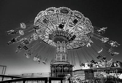 Photograph - Santa Cruz Sea Swings Carnival Ride by Gregory Dyer