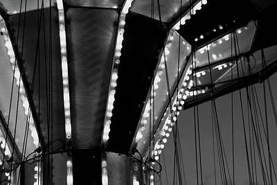 Photograph - Carnival Ride 6 Bw by Mary Bedy