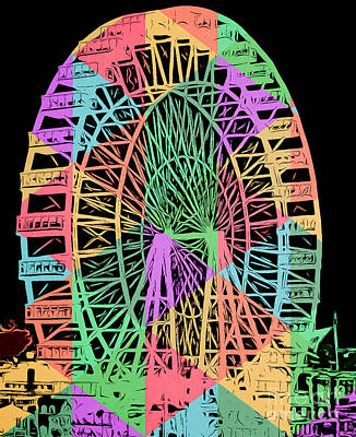 Carnival Ride Art Print by Edward Fielding