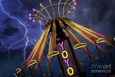 Funfair Photograph - Carnival Ride by Juli Scalzi