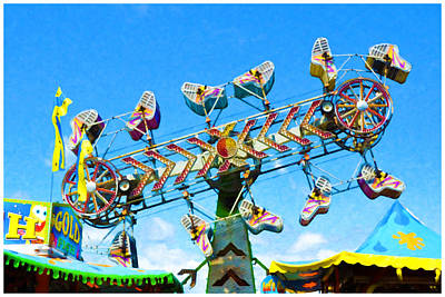Zipper Painting - Carnival  Zipper 1 by Lanjee Chee