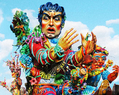 Digital Art - Carnivale Di Sciacca by Joseph Re