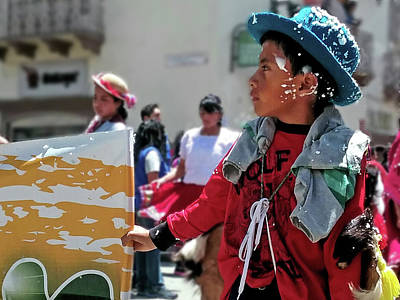 Photograph - Carnivale Parade Cuenca Ecuador 7 by Jeff Brunton