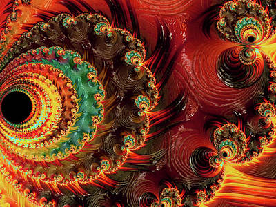 Digital Art - Carnivals Of Color Abstract by Georgiana Romanovna