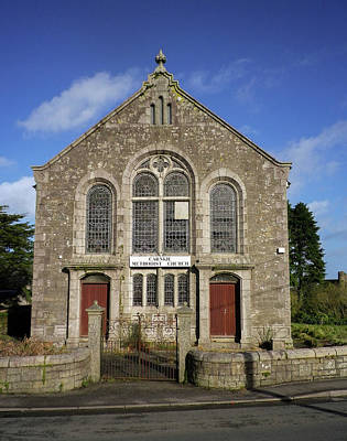 Photograph - Carnkie Methodist Church Cornwall by Richard Brookes