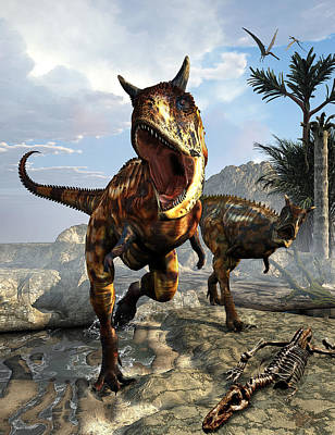 Dino Digital Art - Carnotaurus by Kurt Miller