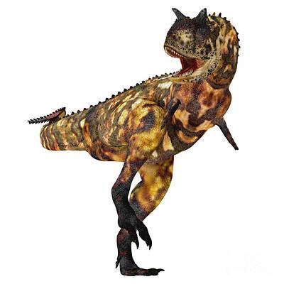 Thunder Painting - Carnotaurus Profile by Corey Ford