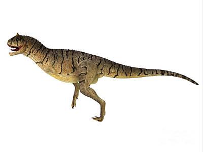 Priska Wettstein Pink Hues - Carnotaurus sastrei Dinosaur Side Profile by Corey Ford